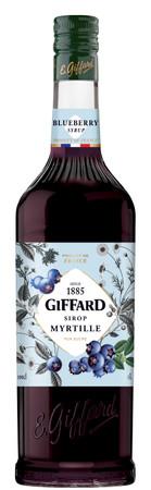 GIFFARD Bar Sirup 1,0 l - Sirup HEIDELBEERE (Myrtille) - zum Mixen /  Mixgetränke / Cocktails