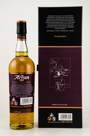 THE ARRAN 21 years old - 46% Vol 1x0,7L Single Malt Scotch Whisky – Bild 2