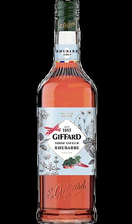 GIFFARD Bar Sirup 1,0 l - Sirup RHABARBER (Rhubarb) -  Mixen /  Mixgetränke / Cocktails