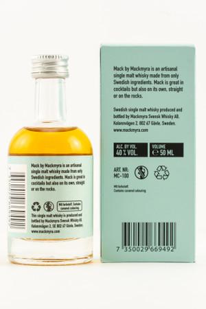 MACKMYRA MACK - Swedish Single Malt Whisky 40% 1x0,05L MINIATUR – Bild 2