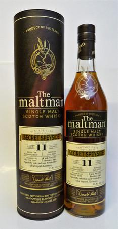 SECRET SPEYSIDE 11y.o. (MACALLAN) - The Maltman - SINGLE MALT WHISKY 55,8%Vol. 0,7L only 589 Bottles