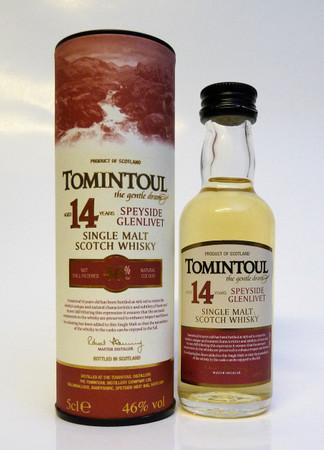 TOMINTOUL 14 Years old MINIATUR - Speyside Glenlivet Whisky - 46%Vol. 1x0,70L