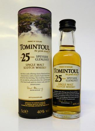 TOMINTOUL 25 Years MINIATUR - Speyside Glenlivet Single Malt Whisky - 40%Vol. 1x0,05L