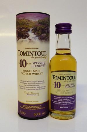 TOMINTOUL 10 Years MINIATUR - Speyside Glenlivet Single Malt Whisky - 40%Vol. 1x0,05L