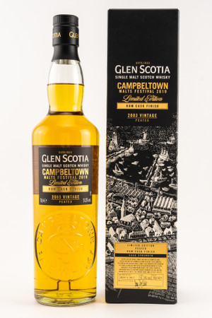 GLEN SCOTIA 2003 peated RUM CASK - Campbeltown Malts Festival 2019 1x0,7L 51,3%vol.