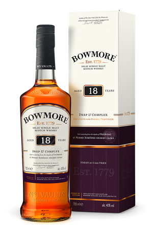 BOWMORE 18 Jahre DEEP & COMPLEX -  Single Islay Malt Whisky 43% 1x0,70L