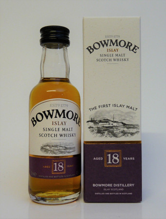 BOWMORE 18 Jahre -  Single Islay Malt Whisky 43%vol. 1x0,05L Miniatur