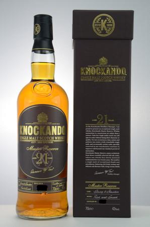 KNOCKANDO 21 Years  Master Reserve 43%vol. 1x0,7L Speyside Single Malt Whisky