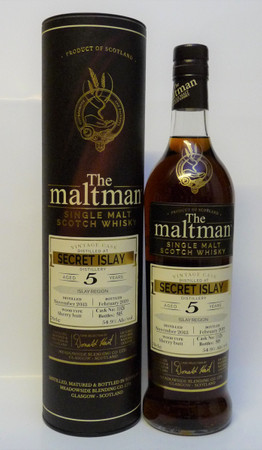 SECRET ISLAY 5y.o. (???) - The Maltman - SINGLE MALT WHISKY 54,9%Vol. 0,7L only 505 Bottles