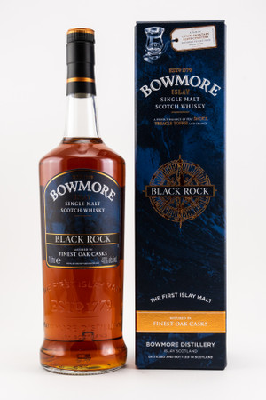 BOWMORE Black Rock + 2 Schieferuntersetzer - Single Malt Whisky 40% 1x1,0L – Bild 1