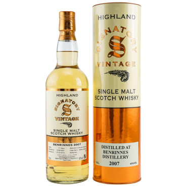 BENRINNES 11y 2007/2019 Signatory Vintage Collection - Cask 306483+306484 - 43%Vol. 1x0,7L