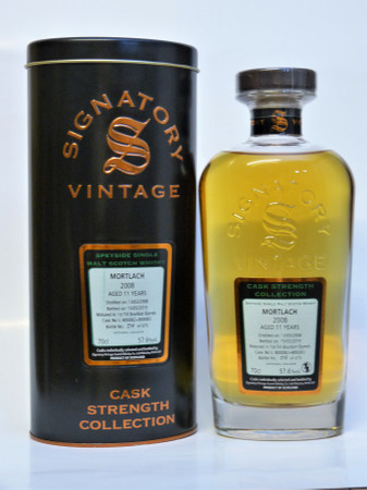 MORTLACH 11y 2008/19 Signatory Cask Strength - Cask 800082+800083 57,6%Vol. 1x0,7L
