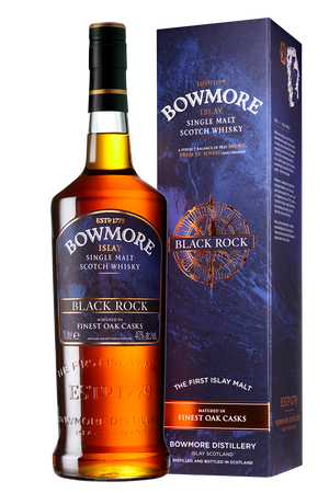 BOWMORE Black Rock - Finest Oak Casks - Single Islay Malt Whisky 40% 1x1,0L