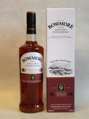 BOWMORE 9 Years Sherry Cask Matured - Single Islay Malt Whisky 40% 1x0,70L
