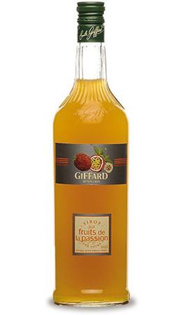 GIFFARD Bar Sirup 1,0 l - Sirup MARACUJA -  zum Mixen /  Mixgetränke / Cocktails
