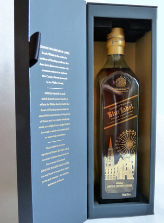 Johnnie Walker Blue Label VIENNA / Wien Edition - Blended Scotch Whisky 40%Vol. 1x0,7L – Bild 1