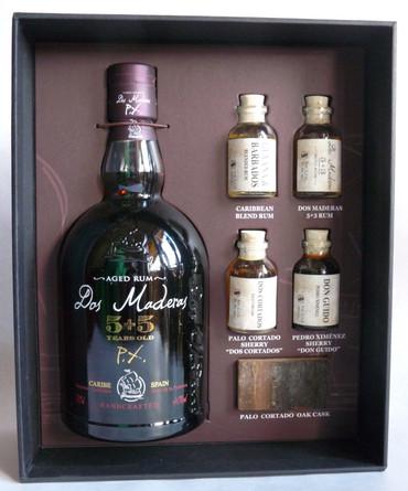 Rum Dos Maderas P.X. 5+5 1x0,70L 40%.vol. - Tasting Set inkl. 4 Samples – Bild 1