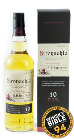 A.D.Rattray - STRONACHIE 10 (Benrinnes) -HIGHLAND SINGLE MALT WHISKY 1x0,7L 43%