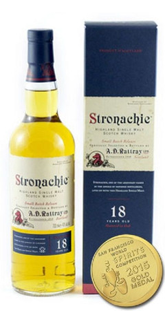 A.D.Rattray - STRONACHIE 18 (Benrinnes) -HIGHLAND SINGLE MALT WHISKY 1x0,7L 46%
