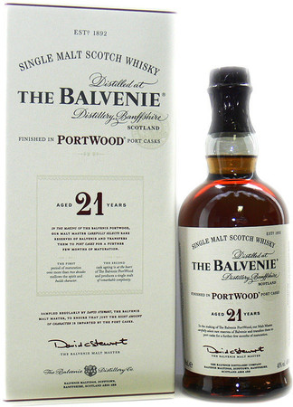 THE BALVENIE 21 Years  Portwood 40% Vol. 1x 0,7L Single Malt Scotch Whisky