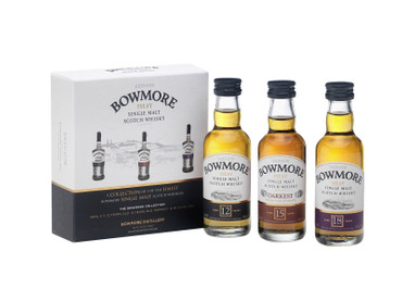 BOWMORE Collection 12/15/18 Jahre -  Single Islay Malt Whisky 40-43% 3x0,05L