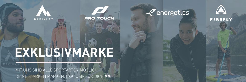 Exklusivmarken Intersport McKinely ProTouch Energetics Firefly TecnoPro