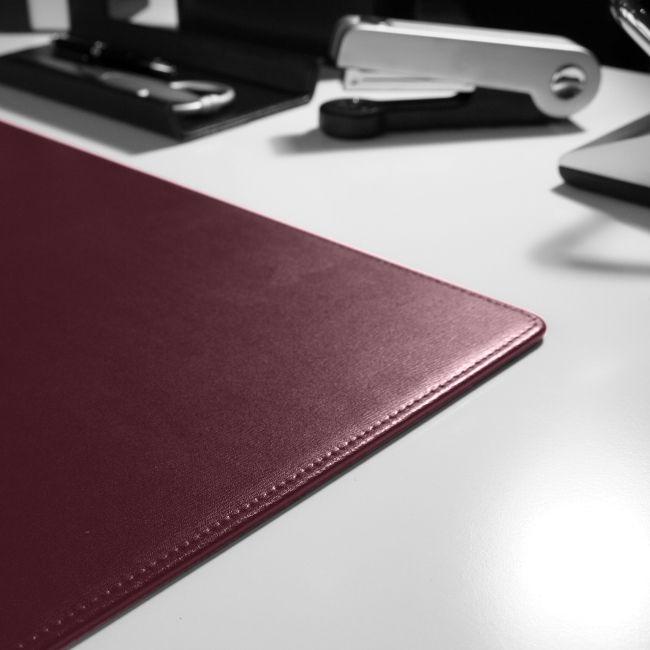 Schreibtischunterlage Klassik Leder bordeaux 56x42 cm – Bild 4