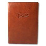Gästebuch Rustico Leder braun 001