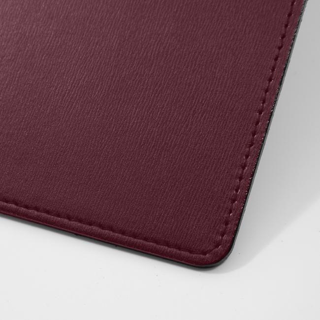 Schreibtischunterlage Klassik Leder bordeaux 70x50 cm – Bild 4