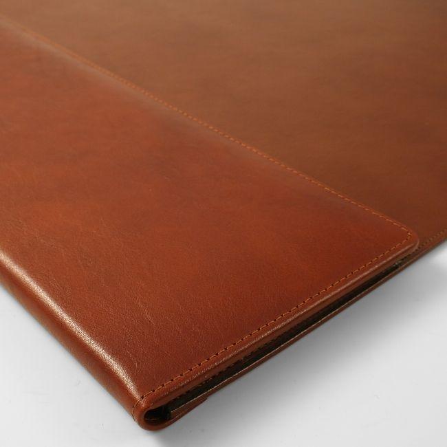 Lederunterlage Rustico mit Seitenklappe braun 67 x 43 cm – Bild 3