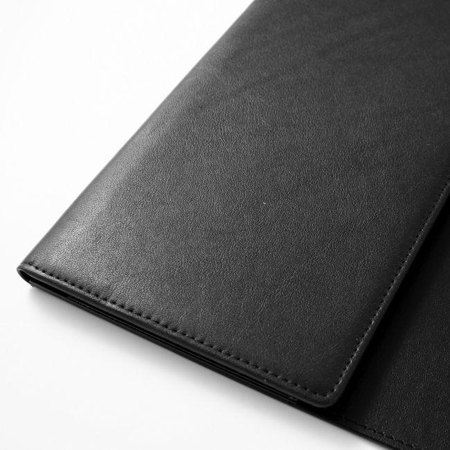 Schreibunterlage Nappaleder mit Seitenklappe 67x43 cm – Bild 3