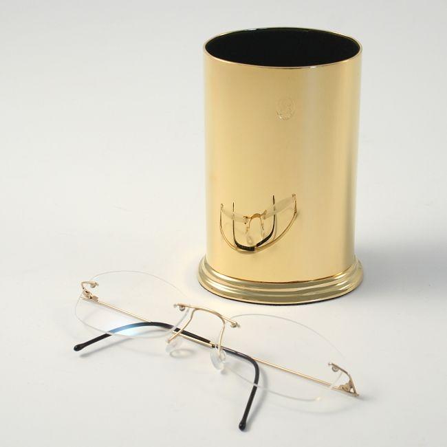 El Casco Brillenständer Stifteköcher M652L Gold – Bild 3