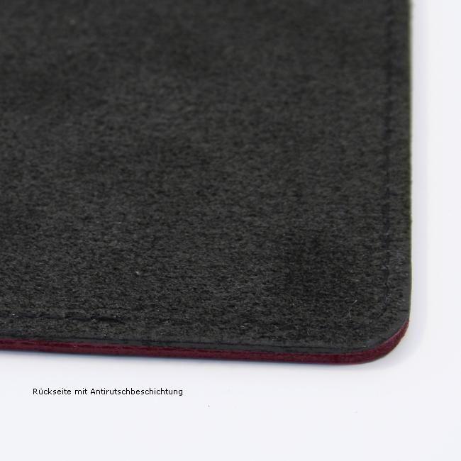 Mouse Pad Klassik Leder bordeaux – Bild 3
