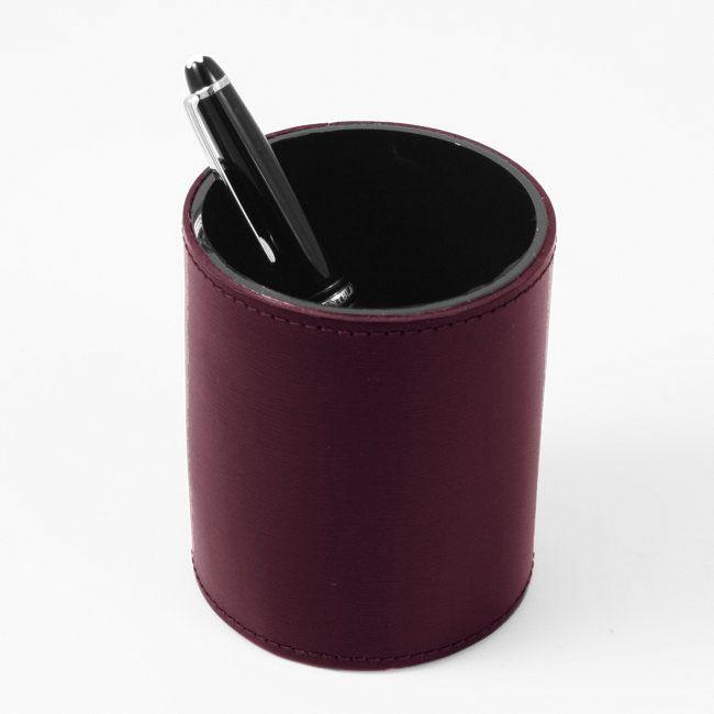 Stifteköcher Klassik Leder bordeaux – Bild 3