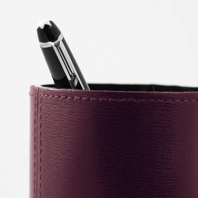 Stifteköcher Klassik Leder bordeaux – Bild 4