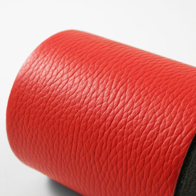 Stifteköcher Leder rot – Bild 3
