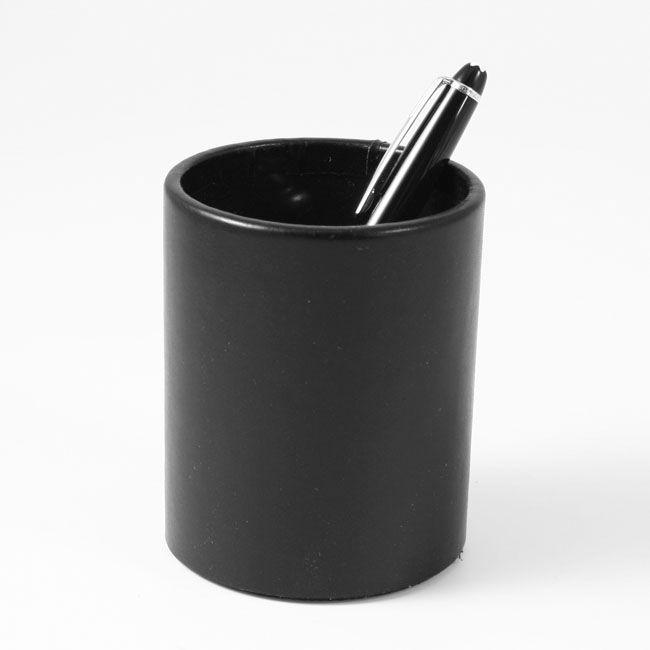 Stifteköcher Klassik Leder schwarz – Bild 2