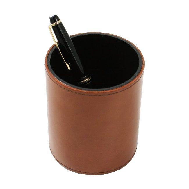 Stifteköcher Klassik Leder braun – Bild 3