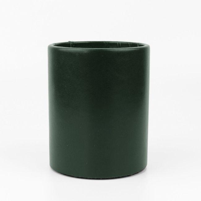 Stifteköcher Klassik Leder grün – Bild 1