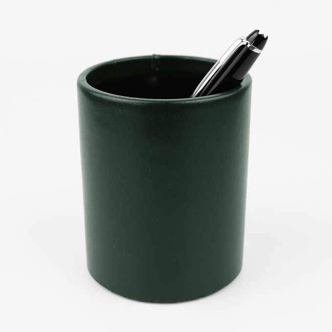 Stifteköcher Klassik Leder grün – Bild 2