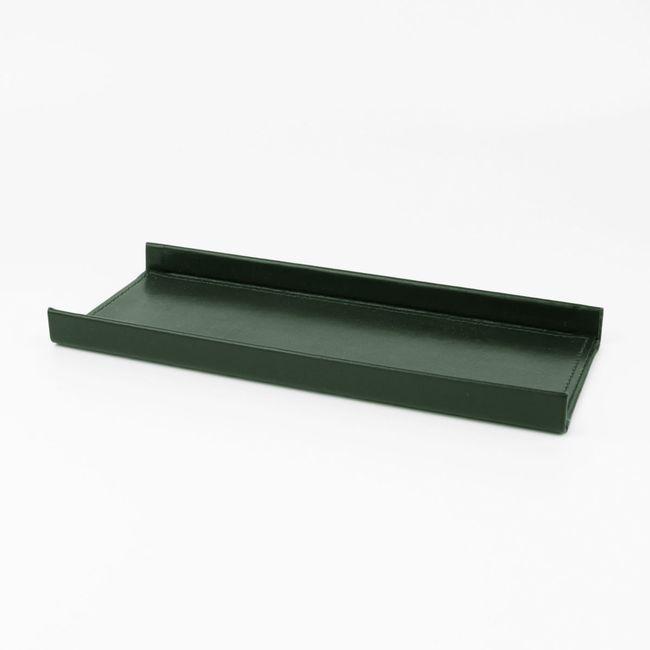 Stiftablage Klassik Leder grün – Bild 1