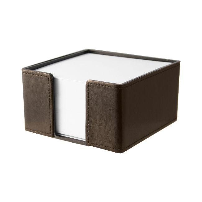 Zettelbox Klassik Leder dunkelbraun