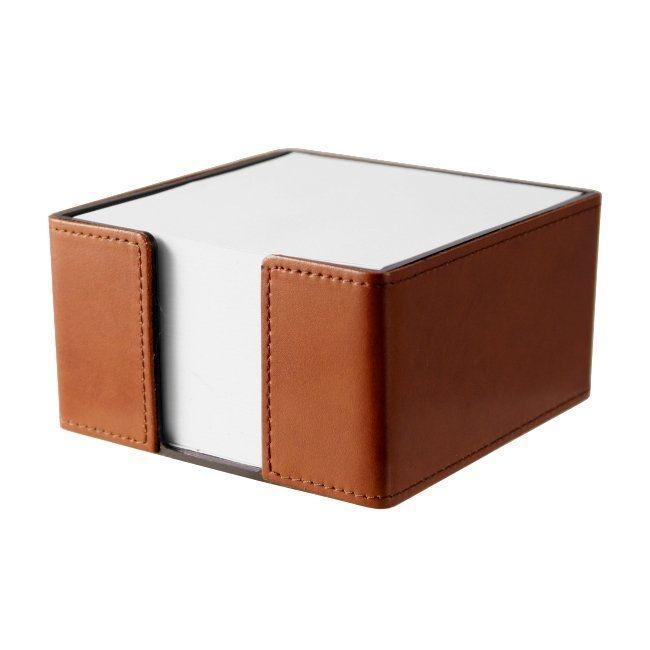 Zettelbox Klassik Leder braun
