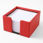 Zettelbox Leder rot 001