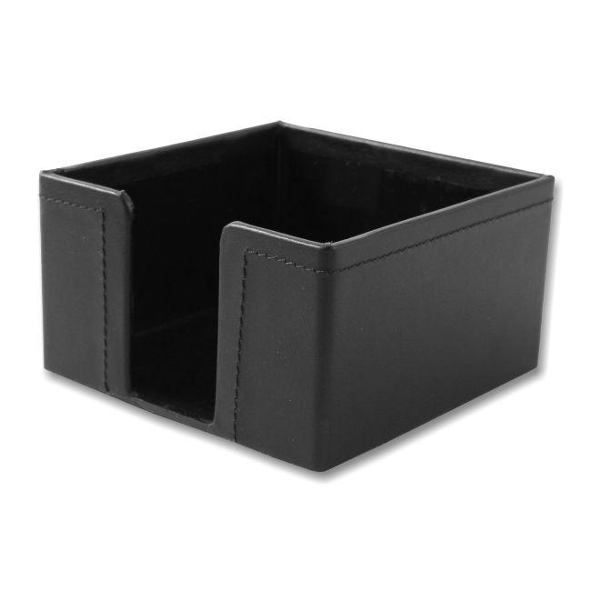 Zettelbox Nappaleder schwarz