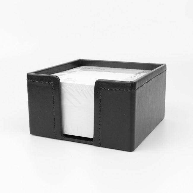 Zettelbox Klassik Leder schwarz – Bild 1