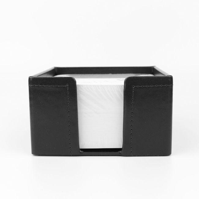Zettelbox Klassik Leder schwarz – Bild 2