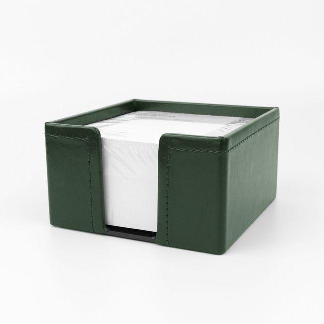 Zettelbox Klassik Leder grün – Bild 1