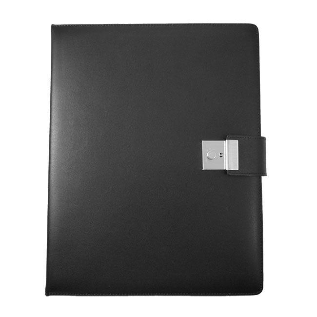 Dokumentenordner Wales Leder schwarz – Bild 1