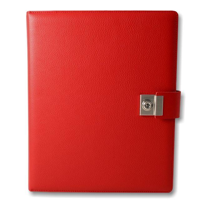 Dokumentenordner Leder rot – Bild 1